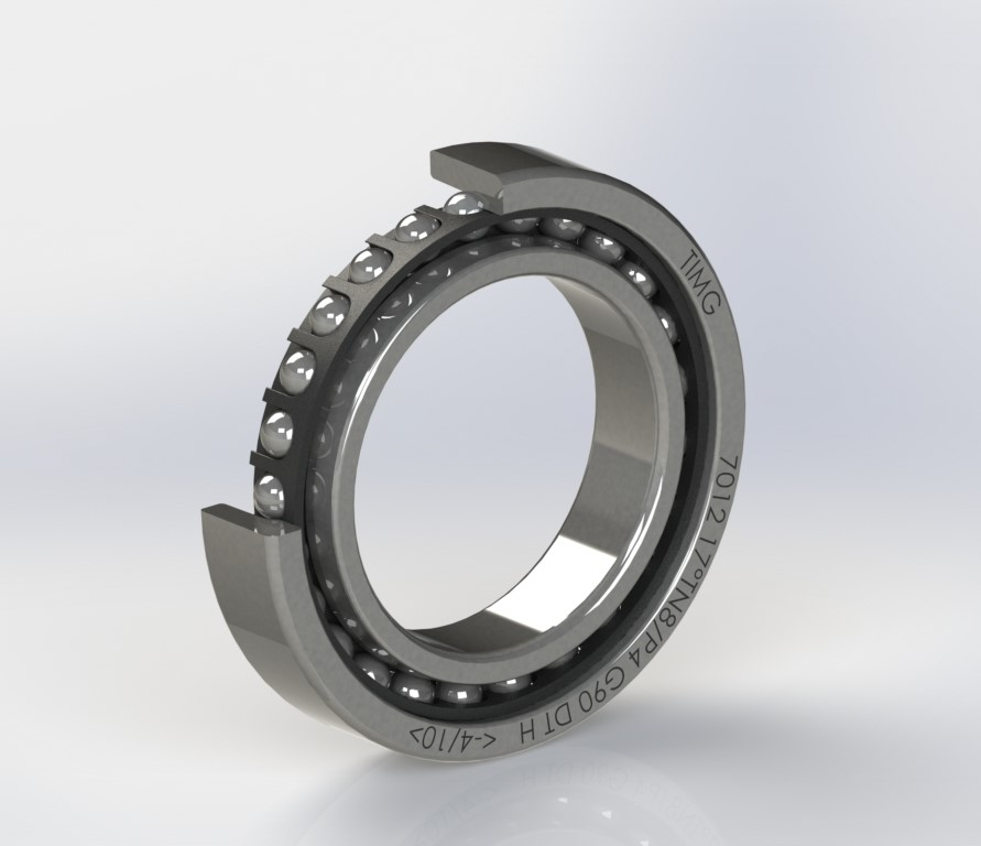 7012 series - 25 small steel balls (φ7.938mm) bearing for 15000rpm spindle