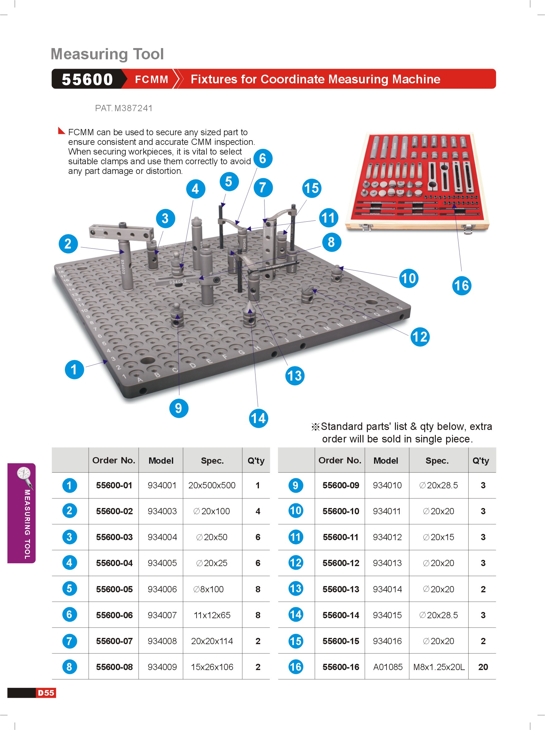 FIXTURE FOR CMM MACHINE