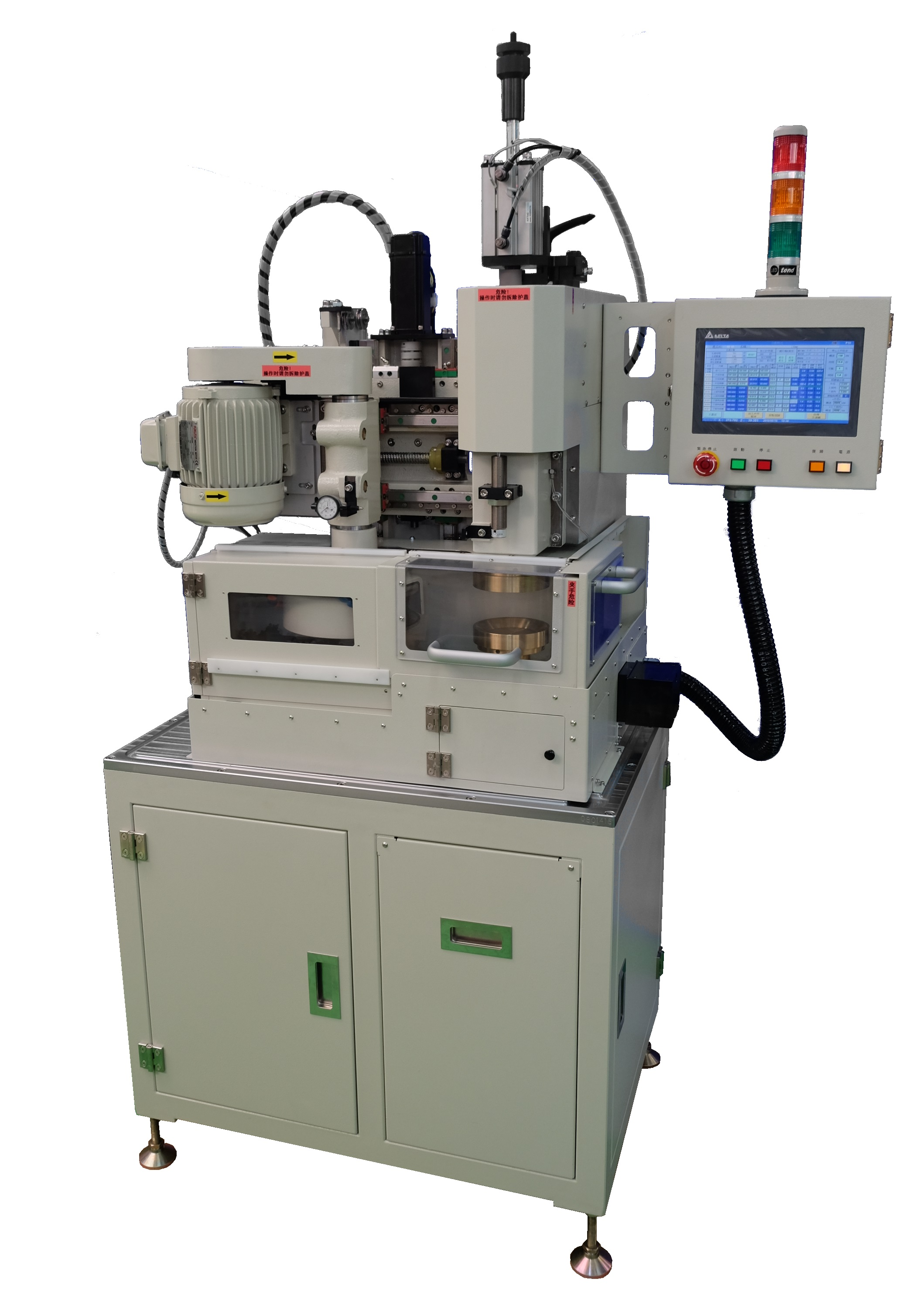 Optical centering machine