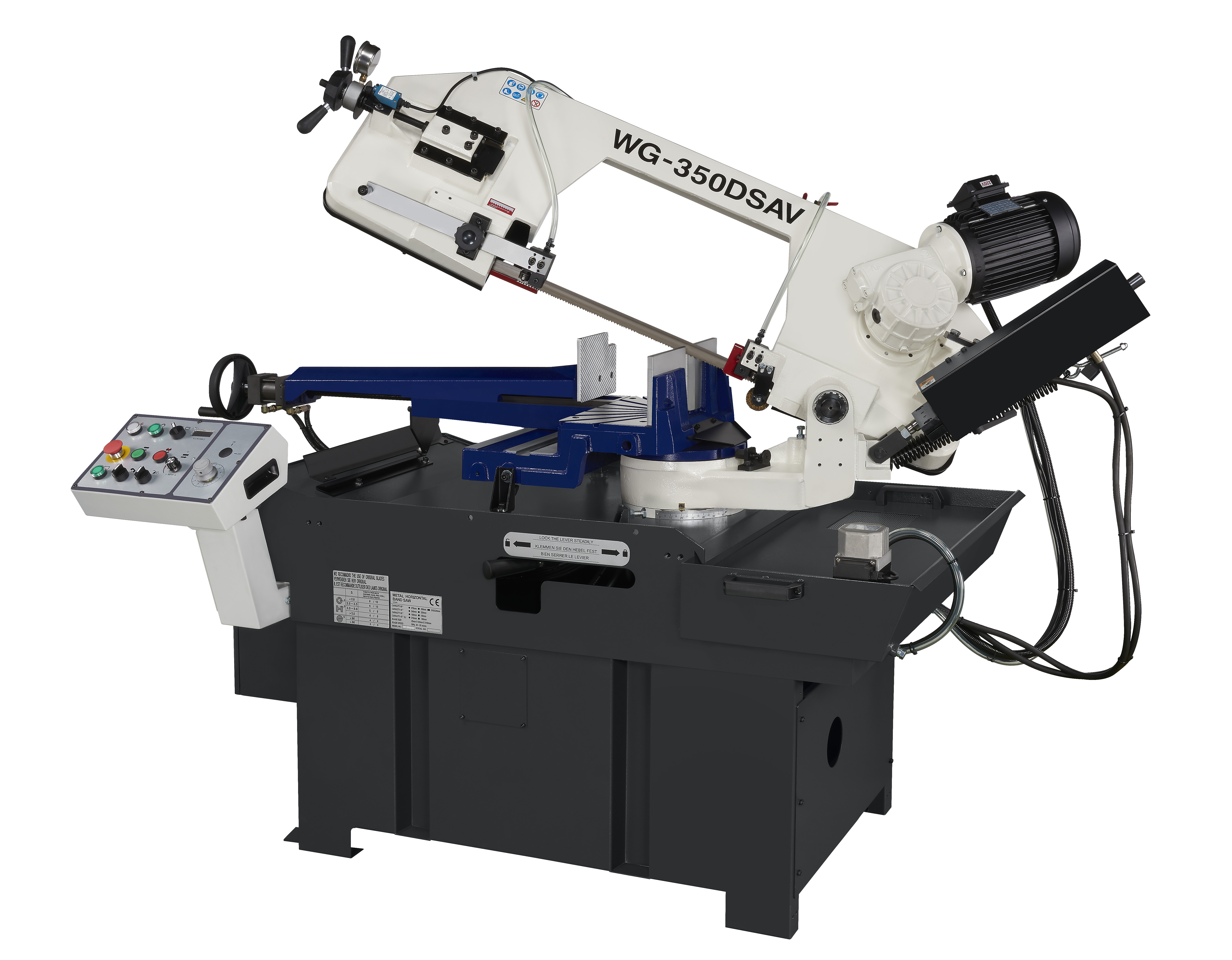 Semi automatical horizonal band saw