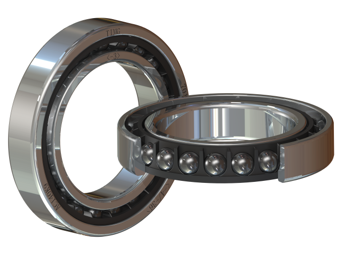 7014 series - 21 large ceramic balls (φ11.906mm) bearing for 12,000rpm spindle