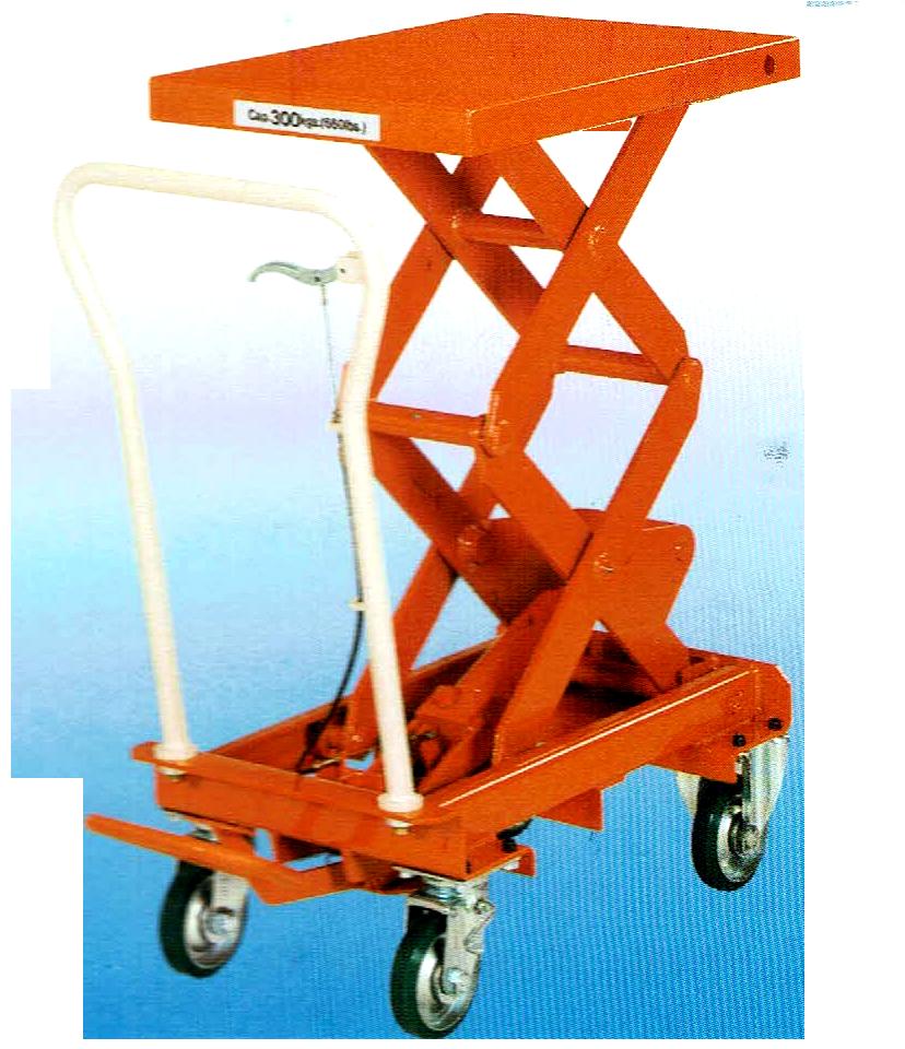 Step-up hydraulic lifting trolley
