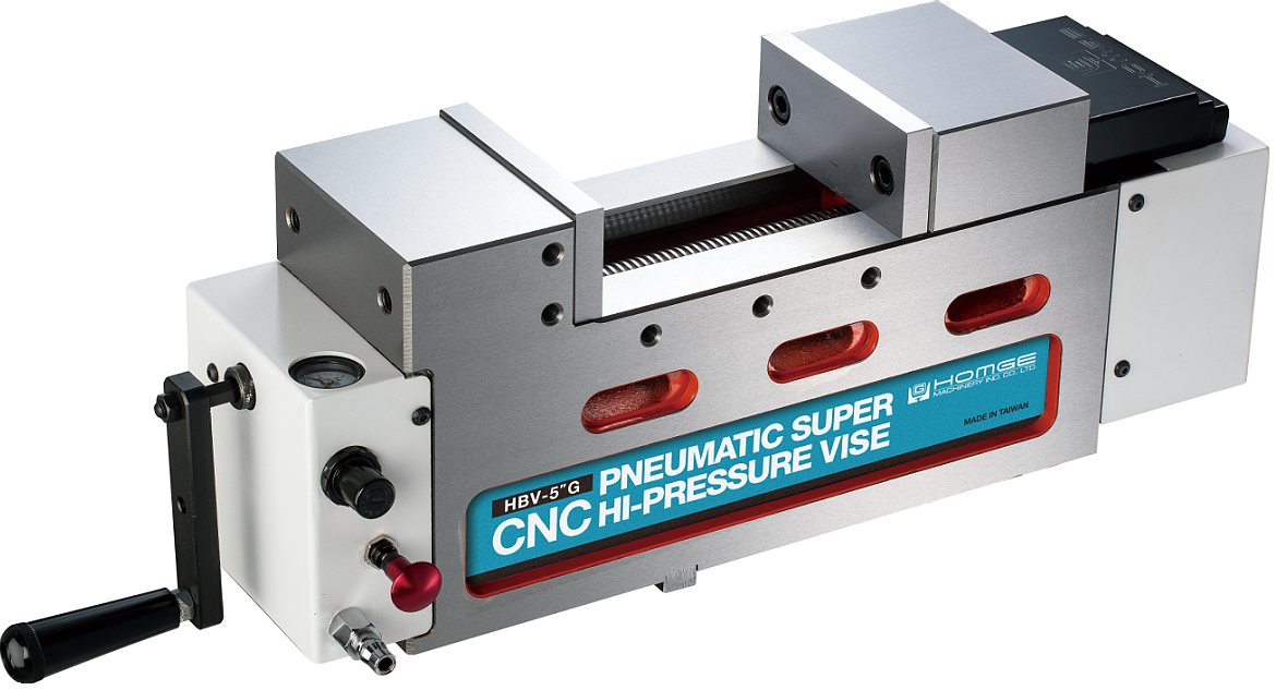 Pneumatic Super Hi-Pressure Vise (Front-Mounting Type)