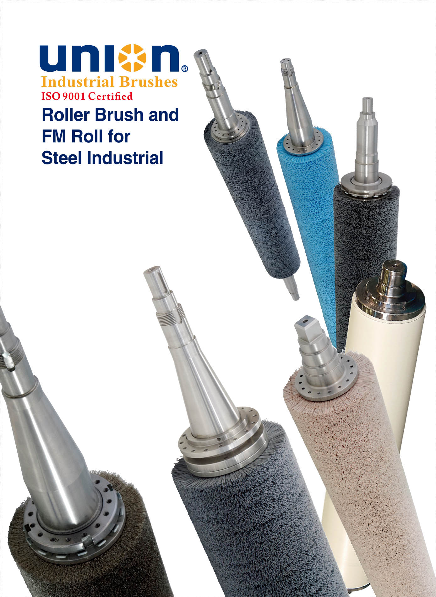 NION Roller Brush and High Tech FM Roll for Steel Industrial