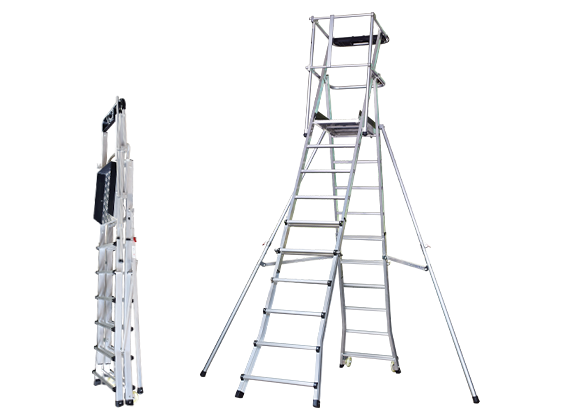 Aluminum Telescopic Platform Ladder