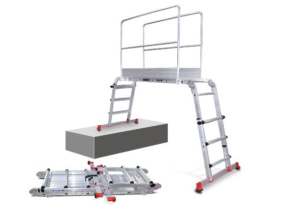 Aluminum Working Platform W/Guardrail