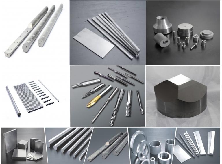 鎢鋼材料(圓棒、模具材料、特種刀具材料、預成型件、硬質合金頂錘)