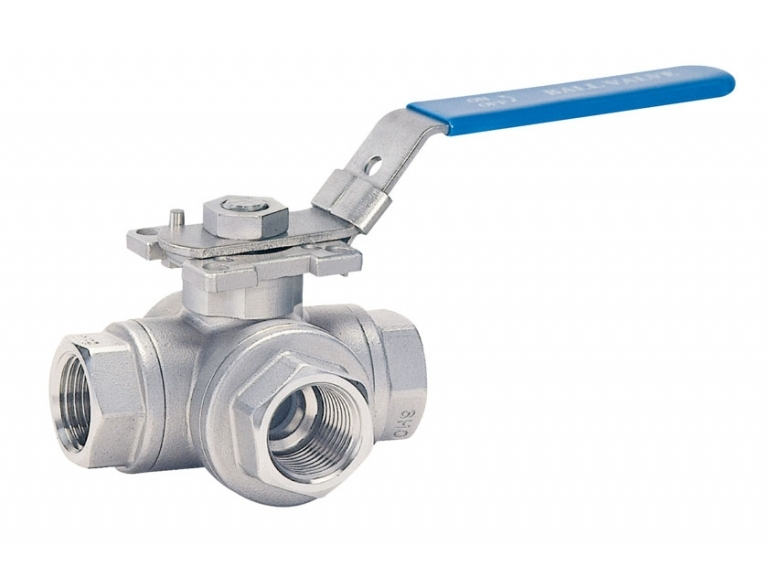 4-PC 3 WAY BALL VALVE