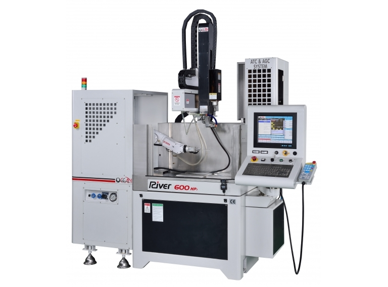 CNC Drilling EDM — RIVER 600 + Auto work piece changer  with robotic arm