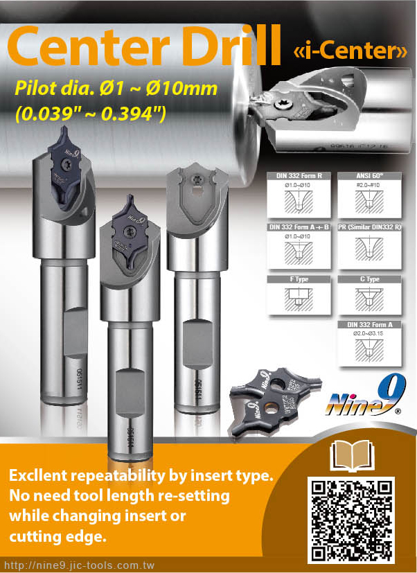 Nine_9 indexable Center Drill