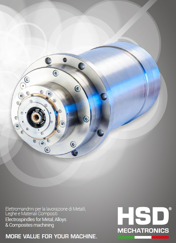 HSD Electrospindles for Metal, Alloys & Composites machining