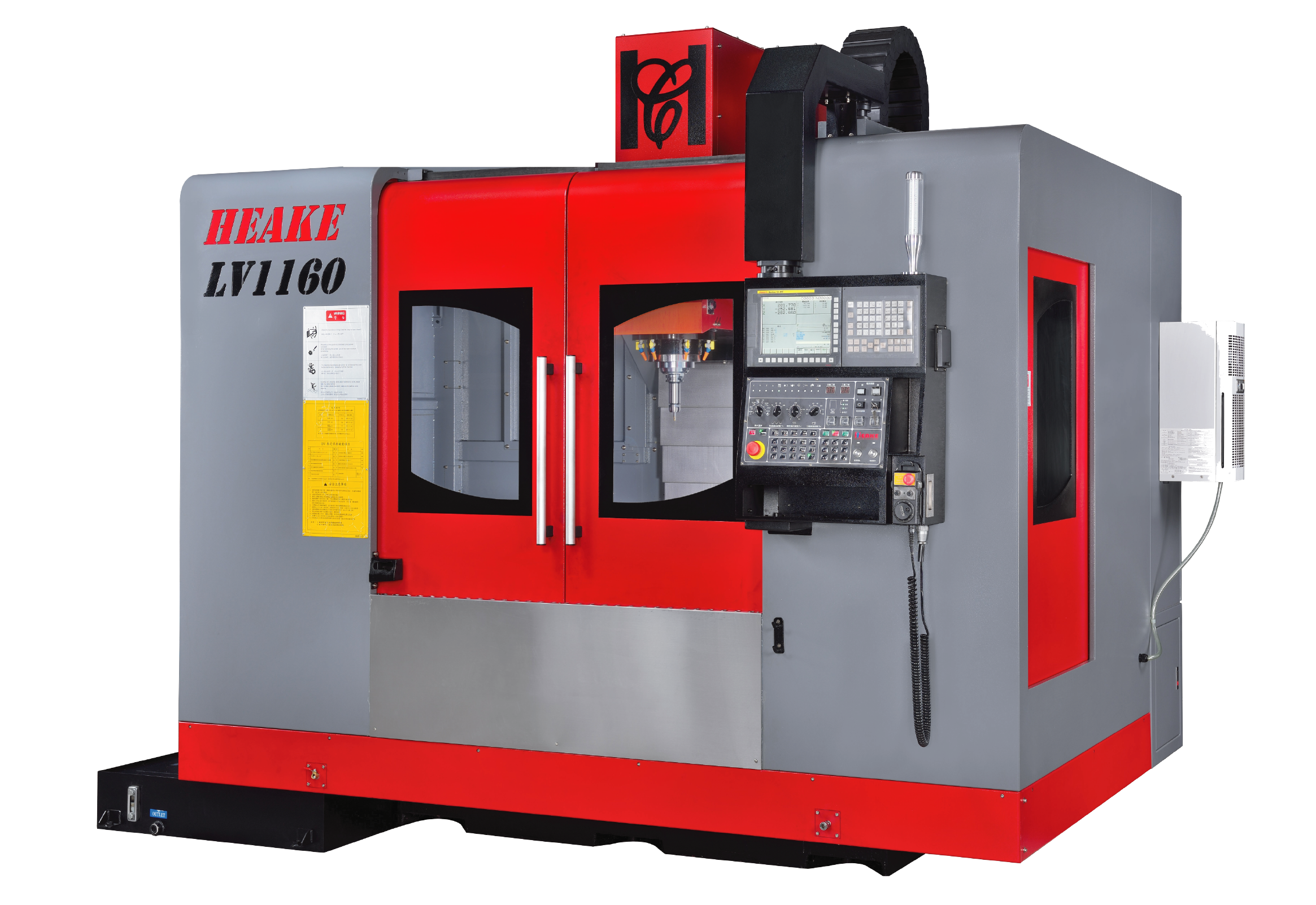 Vertical CNC milling machining