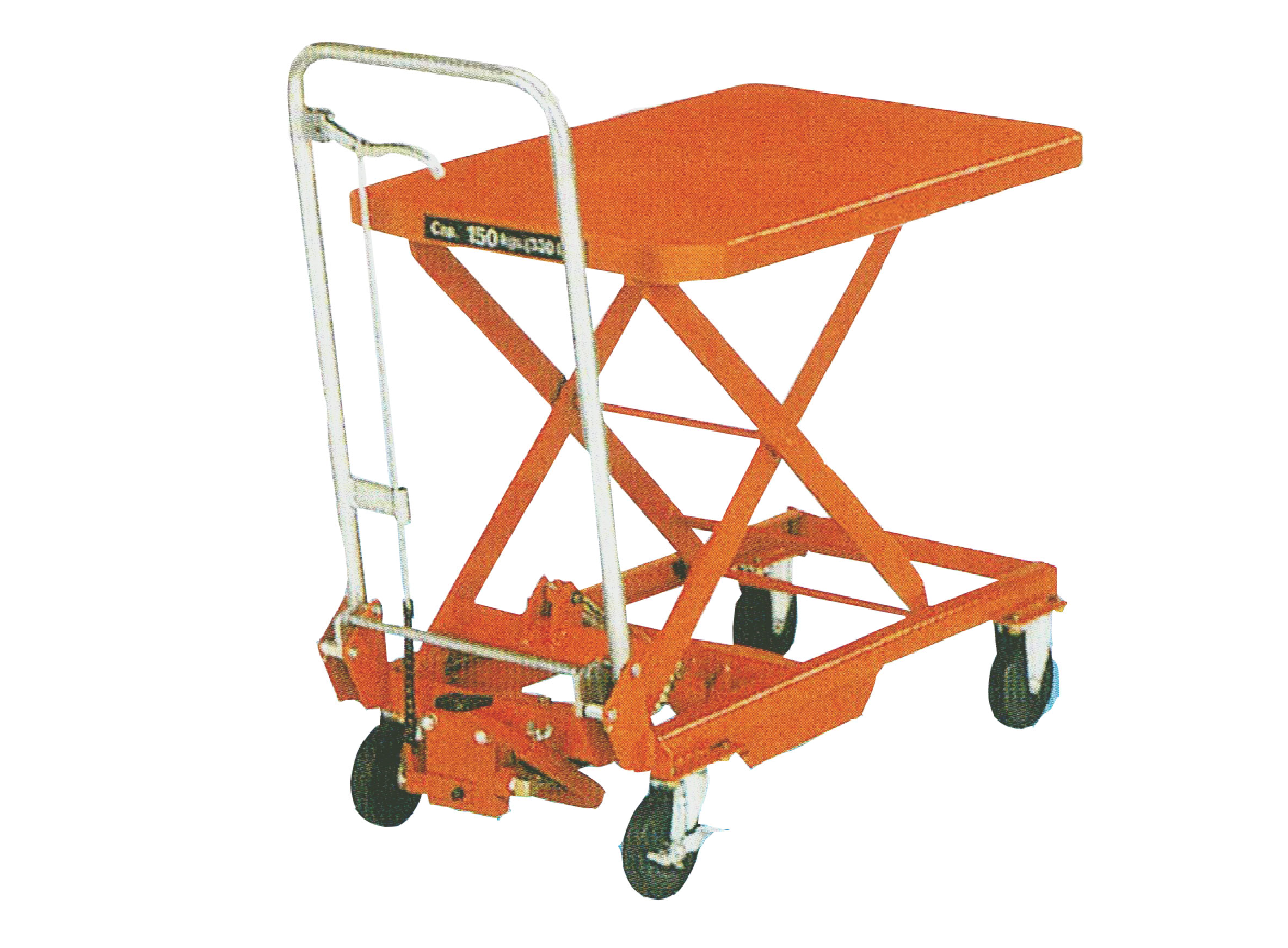 Step-up hydraulic lifting trolley